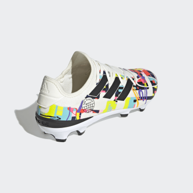 Soccer White Gamemode Knit Firm-Ground Pride Cleats