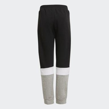 Pantalon adidas Essentials Colorblock Noir Garçons Sportswear