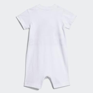 Infant & Toddler Training White Shortie Cotton Romper