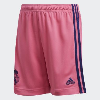 Short Real Madrid 20/21 Extérieur Rose Enfants Football