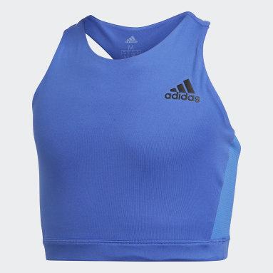Top Deportivo Brand Azul Niña Training