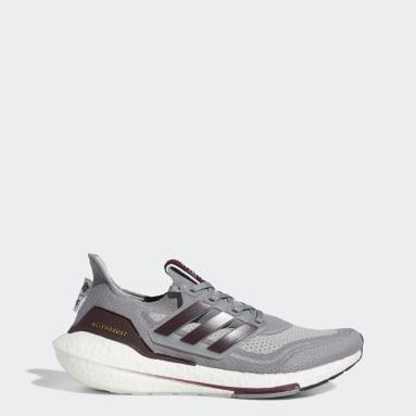 Running Grey Texas A&M Ultraboost 21 Shoes
