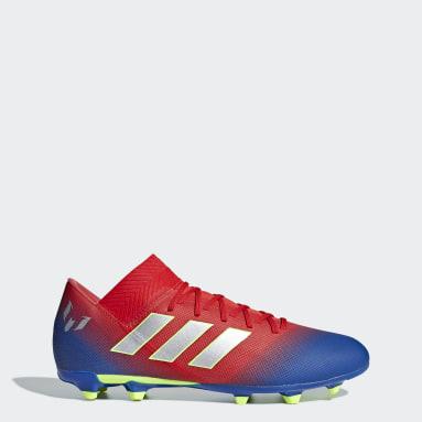 Calzado de Fútbol Nemeziz Messi 18.3 Terreno Firme Rojo Hombre Fútbol