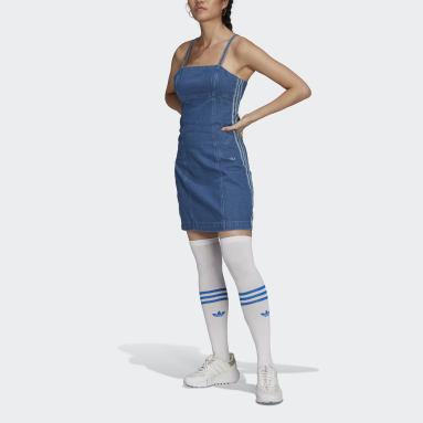 синий Платье Adicolor Denim