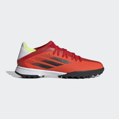 Calzado de Fútbol X Speedflow.3 Pasto Sintético Rojo Niño Fútbol