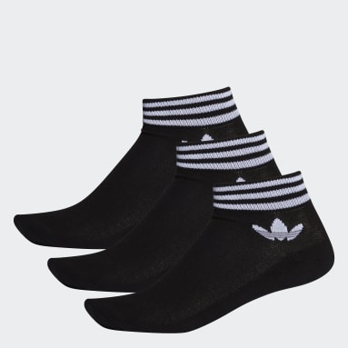 Originals černá Ponožky Trefoil Ankle – 3 páry