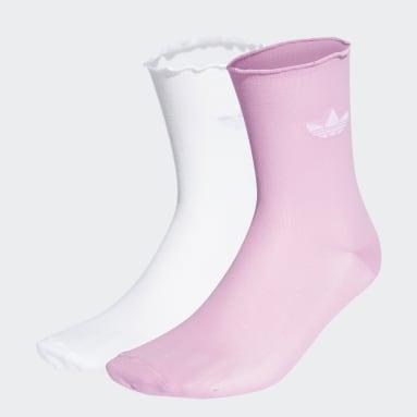Originals adidas 2000 Luxe Socken, 2 Paar Weiß
