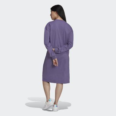 Women Originals Purple Long Sleeve Dress