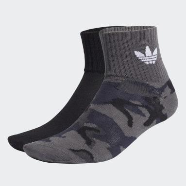 Originals Camo Mid-Ankle Socken, 2 Paar Grau