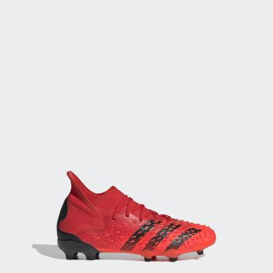 Děti Fotbal červená Kopačky Predator Freak.1 Firm Ground