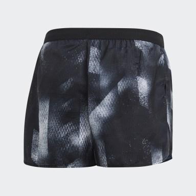 Men Running Black Sub Split Shorts