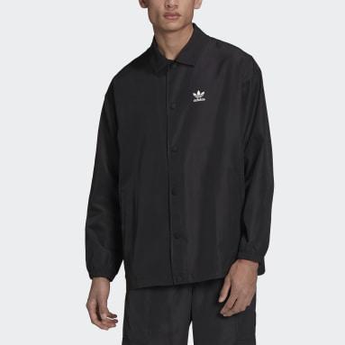 Men Originals Black Adicolor Classics Trefoil Coach Jacket