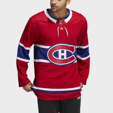 Men Hockey Red Canadiens Home Authentic Jersey