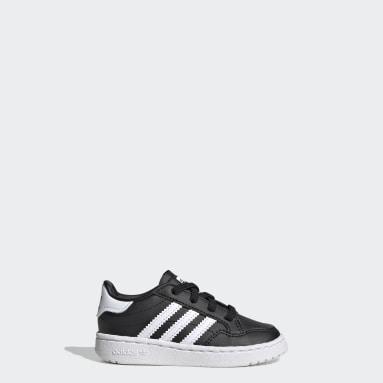 Kids Originals Black Team Court Shoes