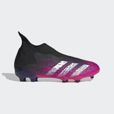 Barn Fotboll Svart Predator Freak.3 Laceless Firm Ground Boots