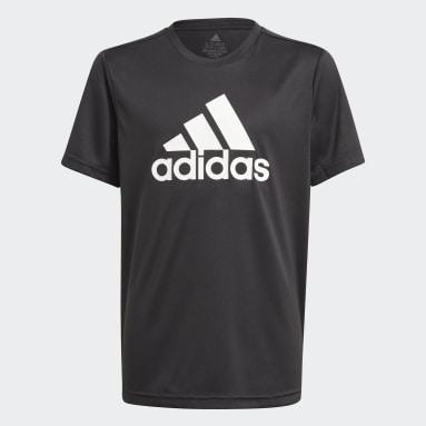 Youth 8-16 Years Gym & Training Black adidas Designed To Move Big Logo T-Shirt