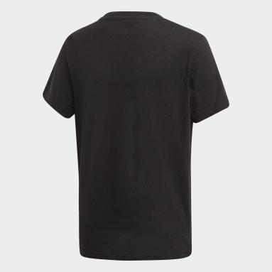 Børn Originals Sort Trefoil T-shirt