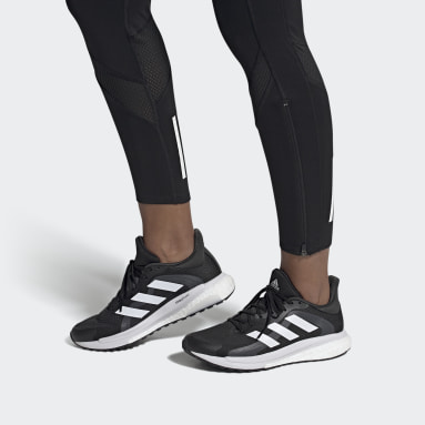 Women Running Black SolarGlide 4 ST Shoes