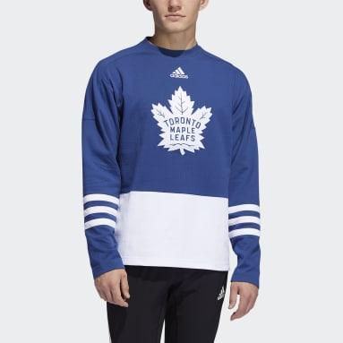 Men's Hockey Blue Maple Leafs Crew Sweater