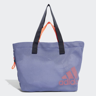 Women Studio Purple Mesh Sports Tote Bag