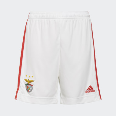 Benfica 21/22 Home Shorts Bialy