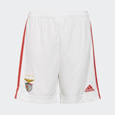 Jongens Voetbal wit Benfica 21/22 Thuisshort