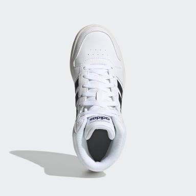Çocuklar Sport Inspired Beyaz Hoops 2.0 Mid Ayakkabı