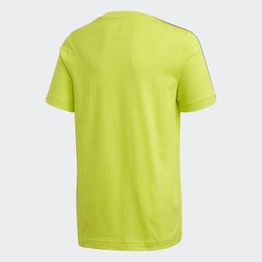 Camiseta Essentials 3 bandas Verde Niño Sportswear