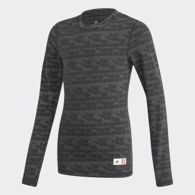 Barn Gym & Träning Svart adidas x Classic LEGO® Bricks Long Sleeve Fitted Tee