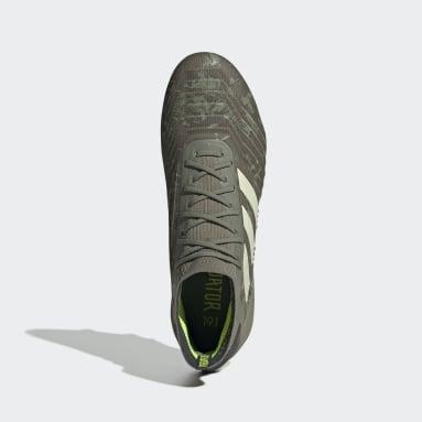 Calzado de Fútbol Predator 19.1 Terreno Suave Verde Hombre Fútbol