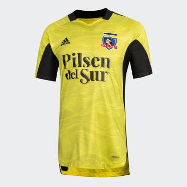 Camiseta De Arquero Club Colo-Colo Amarillo Hombre Fútbol