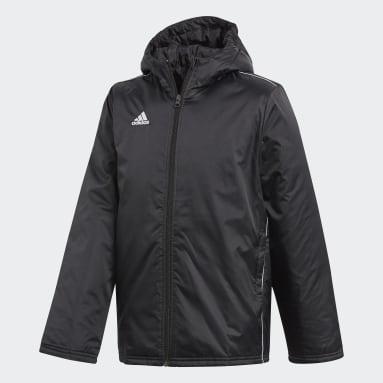 Kids Football Black Core 18 Stadium Jacket