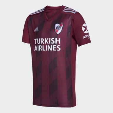 Camiseta Visitante River Plate Granate Hombre Fútbol