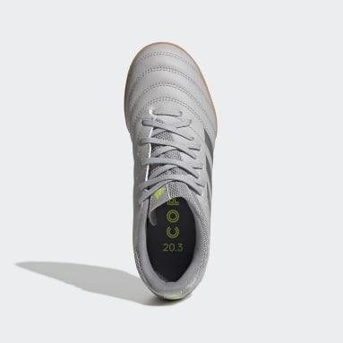 Calzado de Fútbol Copa 20.3 Pasto Artificial (UNISEX) Gris Niño Fútbol