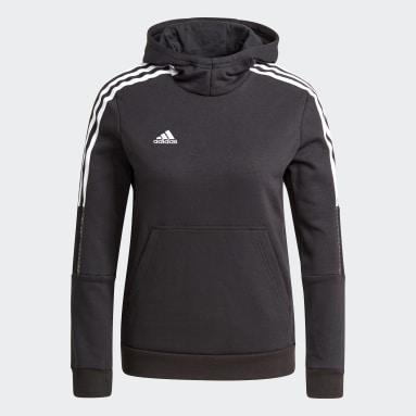 Børn Fodbold Sort Tiro 21 Sweat hættetrøje