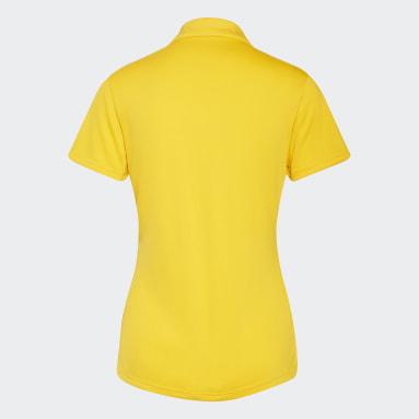Women Golf Yellow Performance Polo Shirt