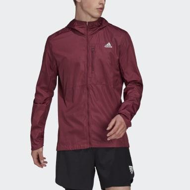 Mænd Løb Burgundy Own the Run Hooded vindjakke