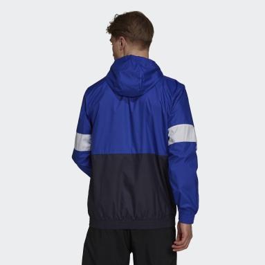 Men's Essentials Blue Essentials Fleece Windbreaker
