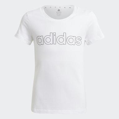 T-shirt adidas Essentials Bianco Ragazza Sportswear