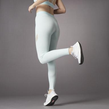 ผู้หญิง เทรนนิง สีเขียว กางเกงรัดรูปขายาวเอวสูง Hyperglam