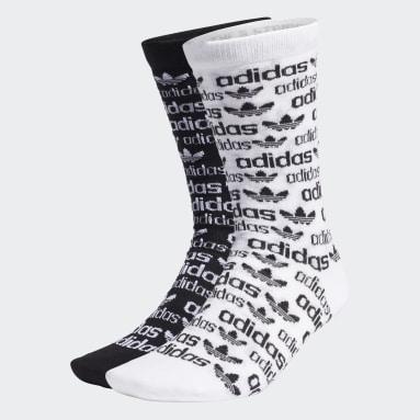 Originals bílá Ponožky Monogram Thin Crew – 2 páry