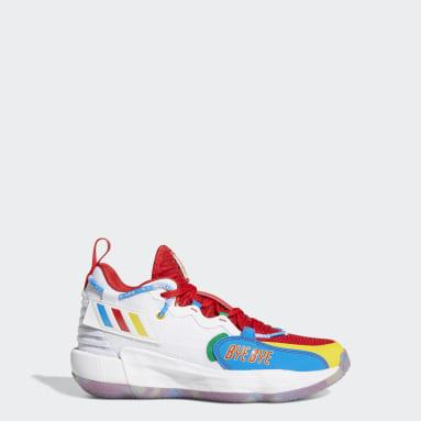 Youth Basketball White adidas Dame ExtPly 7 x LEGO® Shoes