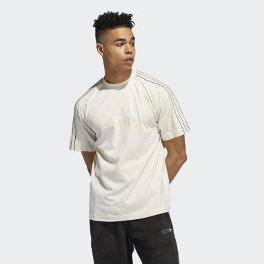 Heren Originals wit adidas SPRT Shadow 3-Stripes T-shirt