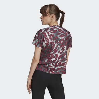 T-shirt Primeblue Fast Graphic Bordeaux Donna Running
