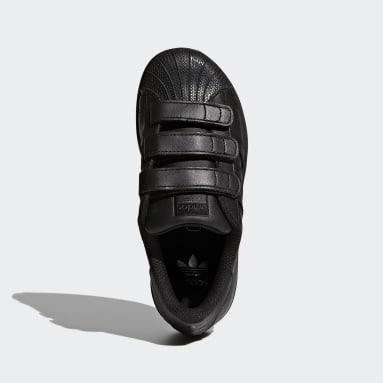 Kids Originals Black Superstar Foundation Shoes
