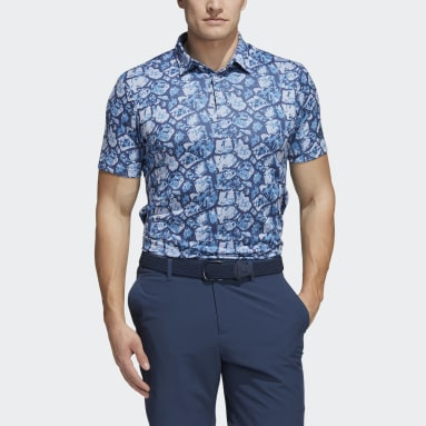 Polo Cobblestone-Print Recycled Content Turquoise Hommes Golf