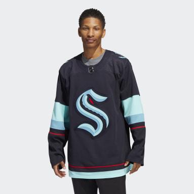 Maillot Domicile Kraken Authentique Bleu Hommes Hockey