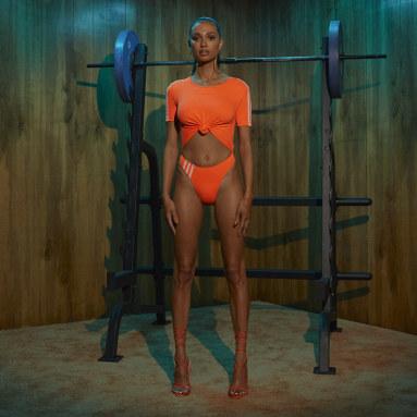 Traje de natación IVY PARK Knot Naranja Mujer Originals