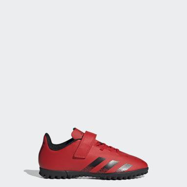 Zapatos de Fútbol Predator Freak.4 Pasto Sintético Rojo Niño Fútbol