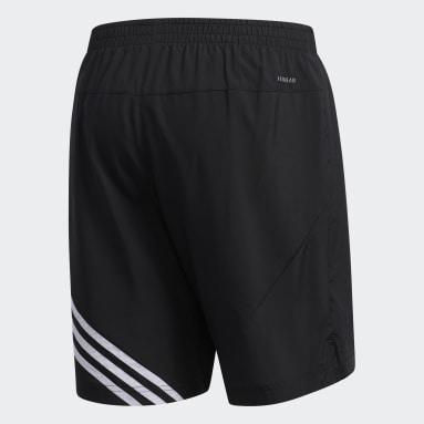 Men Running Black Run It 3-Stripes Shorts